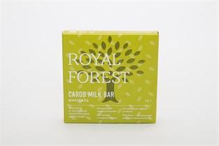 Шоколад из кэроба с миндалем Royal Forest Carob Milk Bar 75 г.